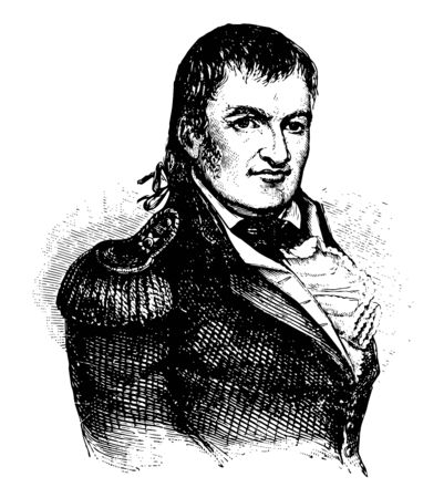 Duncan McArthur 1772 to 1839 he was a military officer politician and governor of Ohio vintage line drawing or engraving illustration Vektoros illusztráció