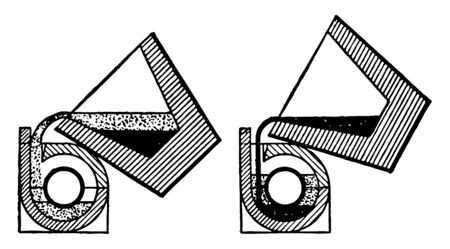 This illustration represents Sectional View of Tapping Crucible Thermit Welding, vintage line drawing or engraving illustration.