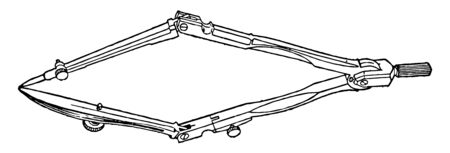 Compass Alignment by bending the knuckle joints together is used for navigation and orientation that shows direction vintage line drawing or engraving illustration.