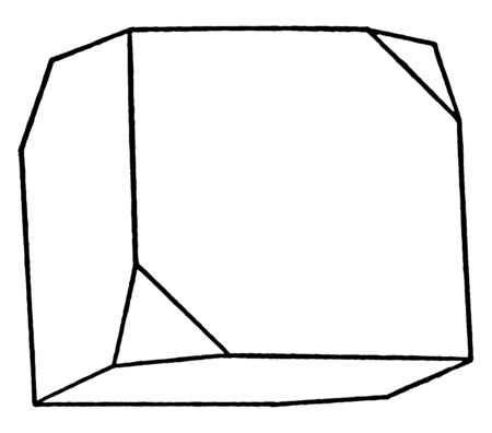This diagram represents Modified Cube, vintage line drawing or engraving illustration. Ilustrace