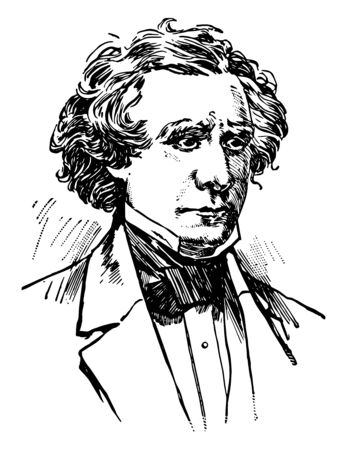 James Gordon Bennett 1795 to 1872 he was the founder editor and publisher of the New York Herald and a major figure in the history of American newspapers vintage line drawing or engraving illustration Archivio Fotografico - 133084766