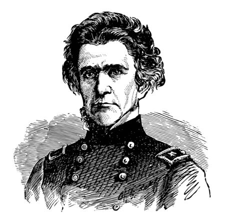 Ormsby McKnight Mitchel 1809 to 1862 he was an American astronomer and major general in the American civil war vintage line drawing or engraving illustration