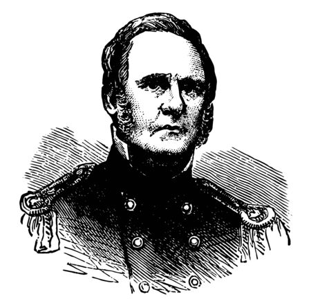 Sterling Price 1809 to 1867 he was an American soldier lawyer planter politician and the governor of Missouri vintage line drawing or engraving illustration