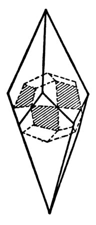 This diagram represents Ammonium Chloride, vintage line drawing or engraving illustration. Illustration