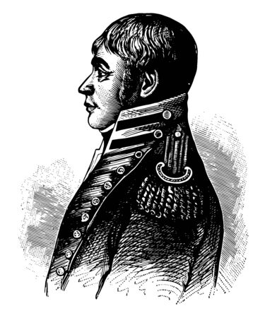 George Armistead 1780 to 1818 he was an American military officer vintage line drawing or engraving illustration