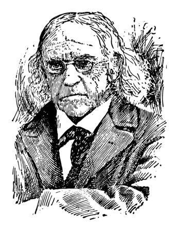 Theodor Mommsen 1817 to 1903 he was a German classical scholar historian jurist journalist politician archaeologist and writer vintage line drawing or engraving illustration