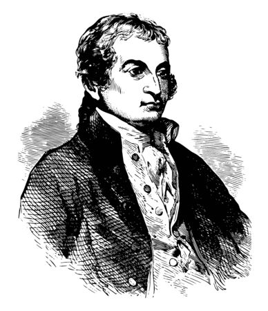 John Jay 1745 to 1829 he was an American statesman Patriot diplomat one of the founding fathers of the United States second governor of New York and the first chief Justice of the United States vintage line drawing or engraving illustration