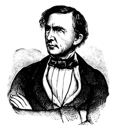 Leslie Combs 1793 to 1881 he was a lawyer and politician from the U.S. state of Kentucky and speaker of the Kentucky house of representatives vintage line drawing or engraving illustration Illustration