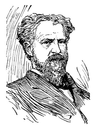 Roscoe Conkling 1829 to 1888 he was a politician U.S. house representative and U.S. senator from New York the leader of the stalwart faction of the republican party and mayor of Utica vintage line drawing or engraving illustration