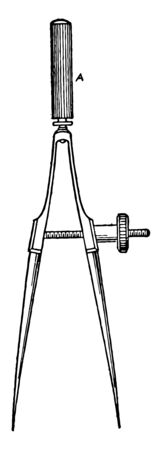 Spring Bow with Bow Points with a set of field tipped arrows that have been tuned with bow it is the distance from the knocking point to the arrow vintage line drawing or engraving illustration.