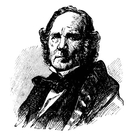 Samuel Houston 1793 to 1863 he was an American soldier politician seventh governor of Texas first president of Texas and United States senator from Texas vintage line drawing or engraving illustration Ilustrace