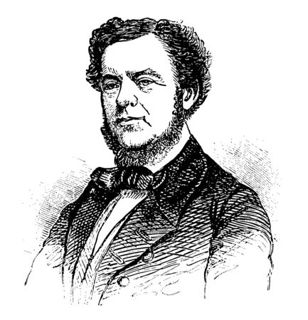 Stephen Russell Mallory 1812 to 1873 he was politician U.S. representative and senator from Florida and confederate states secretary of the navy vintage line drawing or engraving illustration