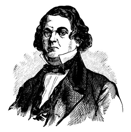 Howell Cobb 1815 to 1868 he was an American politician speaker of the U.S. house of representatives secretary of Treasury and 40th governor of Georgia vintage line drawing or engraving illustration