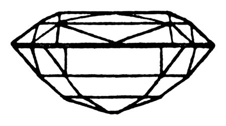 Split Cut is similar to a trap cut, vintage line drawing or engraving illustration.