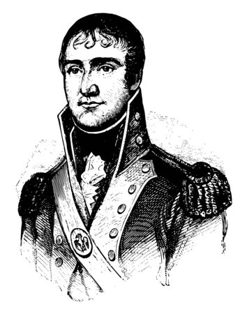 William Charles Cole Claiborne 1773 to 1817 he was a United States politician and the first non to colonial governor of Louisiana vintage line drawing or engraving illustration Ilustración de vector