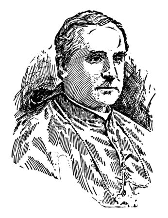 John Murphy Farley 1842 to 1918 he was prelate of the Roman catholic church and Archbishop of New York from 1902 to 1918 vintage line drawing or engraving illustration