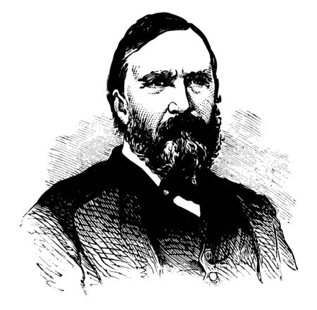 James Longstreet 1821 to 1904 he was one of the foremost confederate generals of the American civil war vintage line drawing or engraving illustration