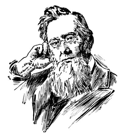 Frederick Augustus Porter Barnard 1809 to 1889 he was president of Columbia university from 1864 to 1889 a deaf American scientist and educator vintage line drawing or engraving illustration Ilustrace