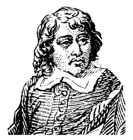 Eustache Le Sueur 1617 à 1655 il était un artiste français et l'un des fondateurs de l'Académie française de peinture vintage dessin ou gravure illustration