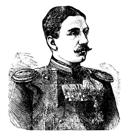 Alexander of Bulgaria 1857 to 1893 he was the first prince of Bulgaria from 1879 to 1886 vintage line drawing or engraving illustration
