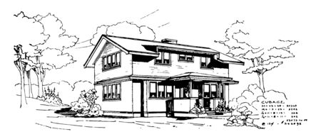 Wooden House natural insulator compared to stone concrete and brick houses good thermal insulator noise absorber vintage line drawing or engraving illustration.