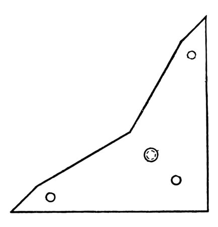 Zange Triangle is concentric arcs inside the angles are used to indicate equal angles it has the same measure as the corresponding angle in the other triangle vintage line drawing or engraving illustration. Ilustração