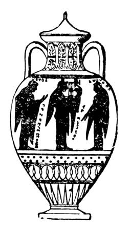 Les amphores sont des pots à col étroit et à deux poignées utilisés par les anciens Grecs pour transporter de l'huile ou du vin. Vecteurs