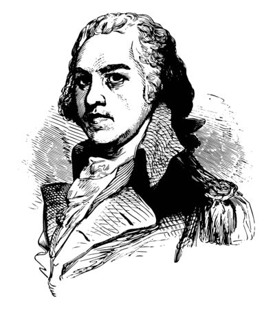 Henry Lee 1756 to 1818 he was an American Patriot politician and the ninth governor of Virginia vintage line drawing or engraving illustration
