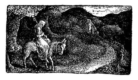 The Return Home is an English printmaker during the 19th century vintage line drawing or engraving illustration.