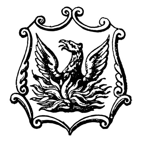 Cirencester is a coat of arms representing the England vintage line drawing or engraving illustration.