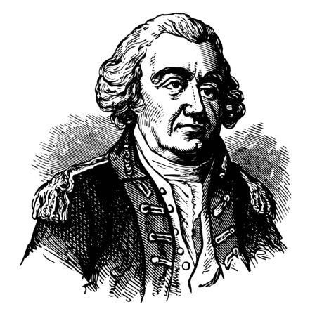 John Lamb 1735 to 1800 he was an American soldier politician and Anti to Federalist organizer vintage line drawing or engraving illustration Ilustrace