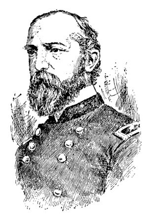 George Gordon Meade 1815 to 1872 he was a United States army officer union general and civil engineer involved in the coastal construction of several lighthouses vintage line drawing or engraving illustration