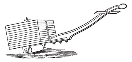 Hand Roller helps provide a firm bond when applying Safety Walk slip resistant materials, vintage line drawing or engraving illustration.