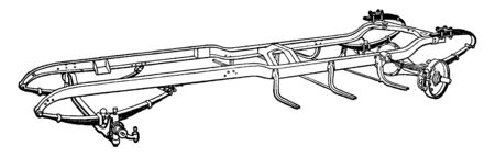 Building an Automobile Step 16 is Rear Axle which is full floating, vintage line drawing or engraving illustration. Illustration
