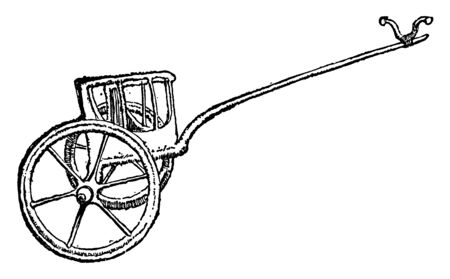 Chariot Wheel is a wheel from an Ancient Egyptian chariot, vintage line drawing or engraving illustration.