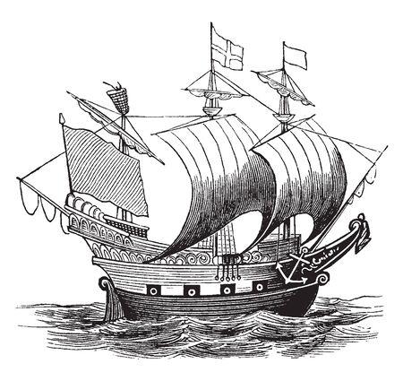 La nave inglese è stata la prima di 13 navi inglesi e della Royal Navy a portare il nome, il disegno dell'annata o l'illustrazione dell'incisione.