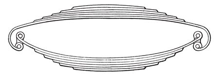 Rear Axle is used on Packard Light Cars and connected to the lower part by shackles, vintage line drawing or engraving illustration.