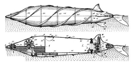 Marine Vessel is derived from the term craft which was used as term to describe all types of water going vessels, vintage line drawing or engraving illustration.