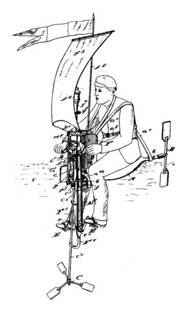 Life Buoy is a life saving buoy designed to be thrown to a person in the water to provide buoyancy to prevent drowning, vintage line drawing or engraving illustration. Stock Illustratie