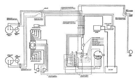 This illustration represents Bijur System, vintage line drawing or engraving illustration.