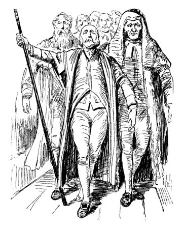 Parliament Members which refers to persons who serve in the parliament of that country, vintage line drawing or engraving illustration.