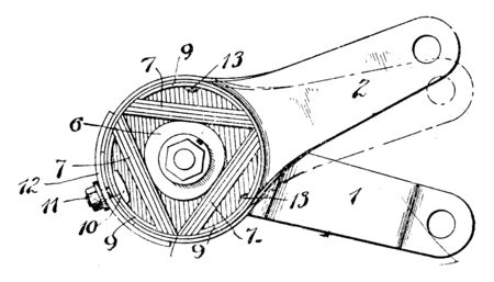 Shock Absorber is a device used to absorb mechanical shocks as a hydraulic or pneumatic piston, vintage line drawing or engraving illustration.