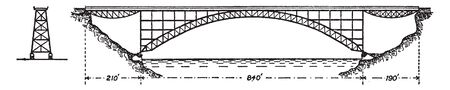 Clifton Bridge is a suspension bridge spanning the Avon Gorge and the River Avon, vintage line drawing or engraving illustration.