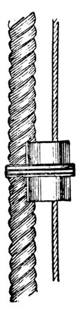 Fair Leader is a strip of board with holes in it for running rigging to pass through and be kept clear, vintage line drawing or engraving illustration. Ilustração