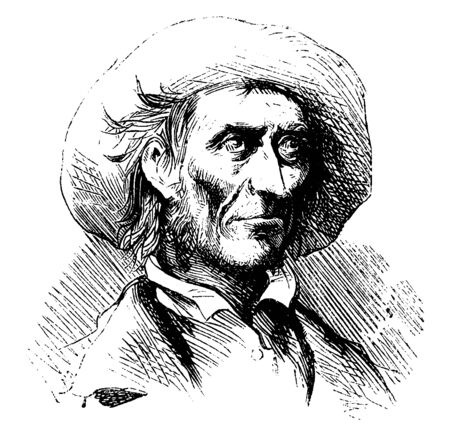 Florida Cracker refers to the original colonial era American pioneer settlers of the state of Florida, vintage line drawing or engraving illustration Vectores