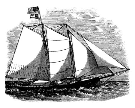 The Savannah Confederate Privateer was privately owned ships that were authorized by the government of the Confederate States of America, vintage line drawing or engraving illustration.