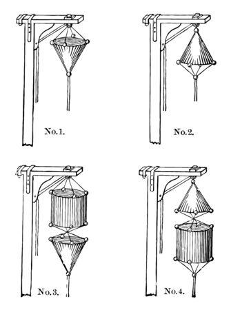 It is used for weather warnings vintage line drawing. Иллюстрация