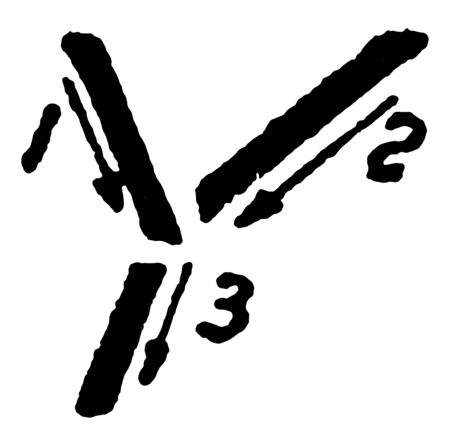 This is an image of writing the letter Y with tilted uppercase using correct strokes, vintage line drawing or engraving illustration. Ilustração