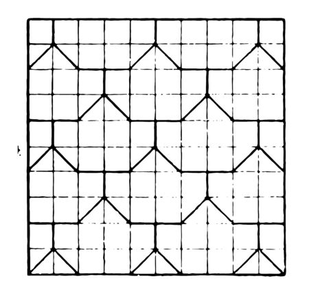 The image shows the beautiful Tessellation design along with the Repeating Design pattern, vintage line drawing or engraving illustration. Çizim