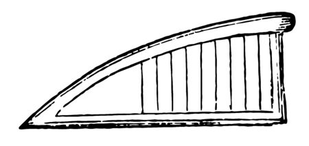 Sambuca is triangular form of the harp, vintage line drawing or engraving illustration. Illusztráció